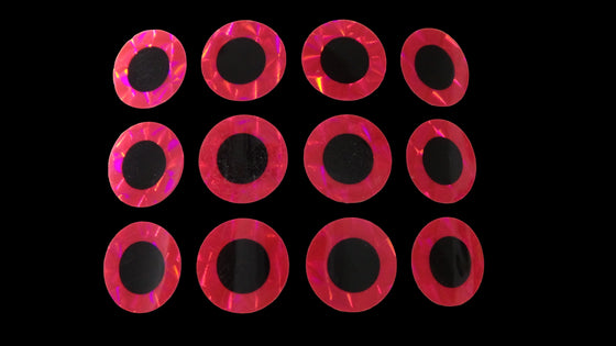 OBD Holographic Pre-Cut Shape - Pink Eyes (12)
