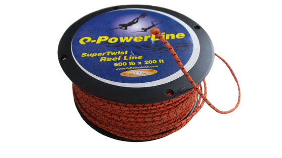 Q-Powerline SUPERTWIST Orange 1.7mm Reel Line 200ft