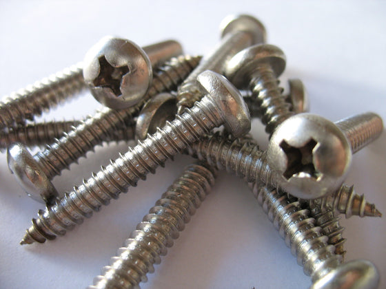 OBD Stainless 316 Pan Head Screws (Pair)