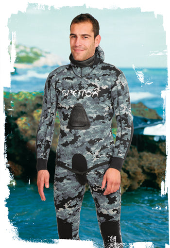 Spetton Black Digital Spearfishing Wetsuit 3mm