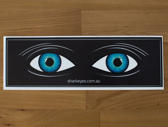 Shark Eyes Visual Deterrent Sticker Black