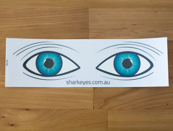 Shark Eyes Visual Deterrent Sticker Clear