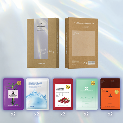 Photo of Good Morning Mask Set with all Included Sheets. List of included masks is below Photo.