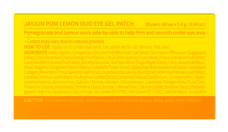 Jayjun Pom Lemon Duo Eye Gel Patch Jar