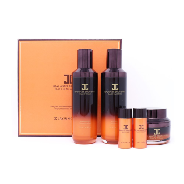 REAL WATER BRIGHTENING BLACK SKIN CARE SET-JAYJUN Cosmetic US