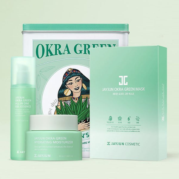 Okra Green Skin Care Set