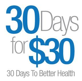 $30.00 for 30 days of UNLIMITED fitness classes