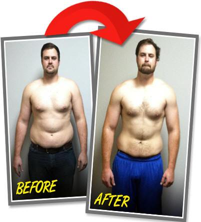Weight loss client of before and after