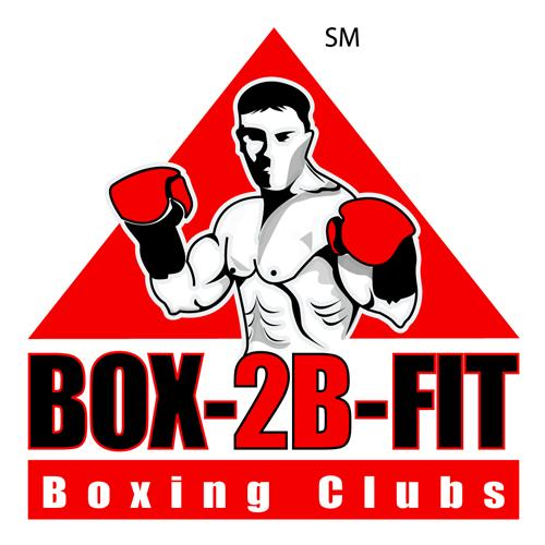 Male BOX-2B-FIT Service Mark logo in red, black and white color