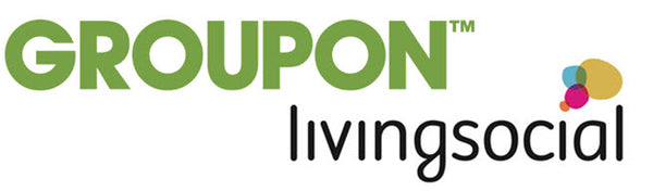 Groupon green and white banner