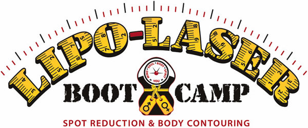 A black and yellow scale for Lipo Laser Boot Camp