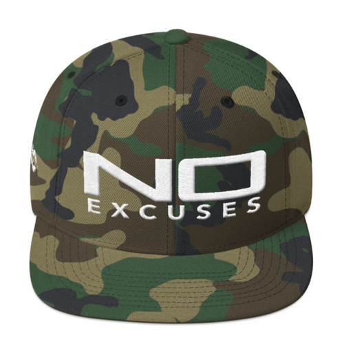 NO EXCUSES SNAPBACK HAT