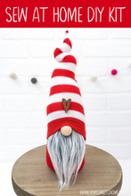Load image into Gallery viewer, DIY Red & White Striped Gnome - SEW AT HOME