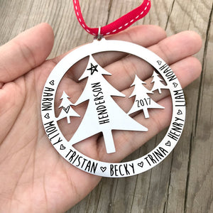 Personalized Tree Scene Ornament