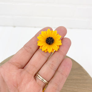 Flat Back Resin Sunflower - 3 pack