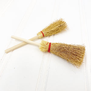 "4"" Wood Broom - 2 pack"