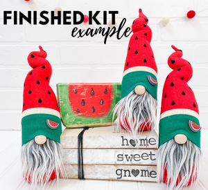 DIY Red Watermelon Gnome Kit - NO SEW - 1013