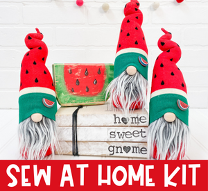 DIY Red Watermelon Gnome Kit - SEW AT HOME - 1014