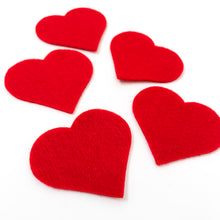 "Load image into Gallery viewer, Pre-cut 2"" Felt Heart - 5 pack - Choose Your Color"