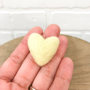 "Large 1.5"" Felted Heart - Choose Your Color"