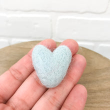 "Load image into Gallery viewer, Large 1.5"" Felted Heart - Choose Your Color"