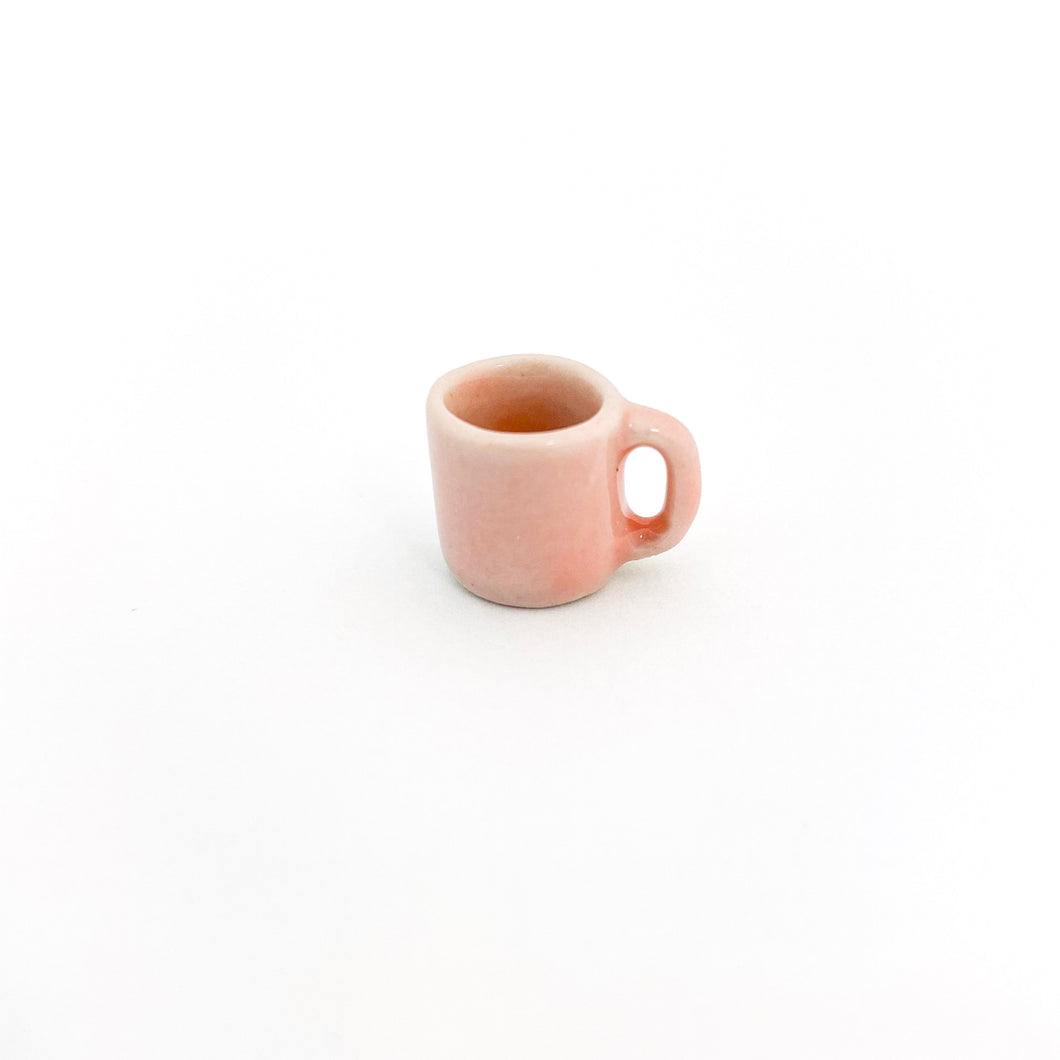 EMPTY - Miniature Ceramic Baby Pink Mug