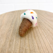 "Load image into Gallery viewer, 2.5"" Felted Ice Cream Cone"
