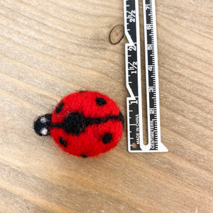"1.5"" Felted Lady Bug"