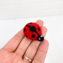"Load image into Gallery viewer, 1.5"" Felted Lady Bug"