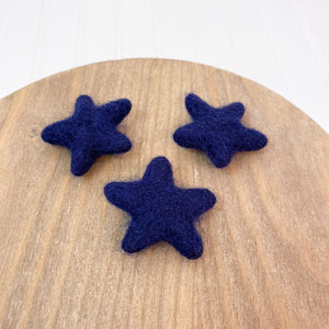 "1.75"" Felted Star - Blue"
