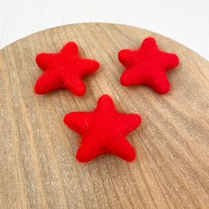 "1.75"" Felted Star - Red"