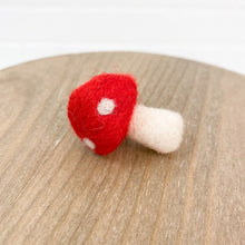 "Load image into Gallery viewer, 2"" Felted Red Mushroom"