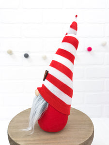 DIY Red & White Striped Gnome - SEW AT HOME