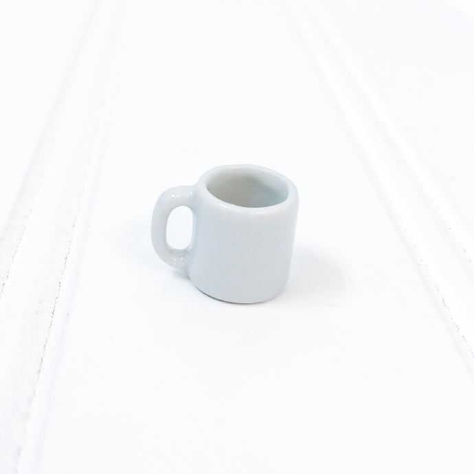 EMPTY - Miniature Ceramic White Mug