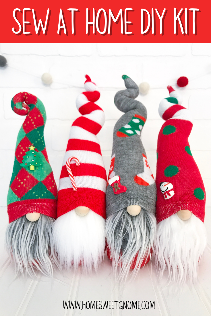 DIY Mystery Christmas Gnome - SEW AT HOME KIT