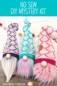 DIY Mystery Mermaid Gnome Making Kit - NO SEW KIT
