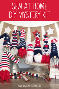 DIY Mystery Patriotic Gnome Making Kit - SEW AT HOME