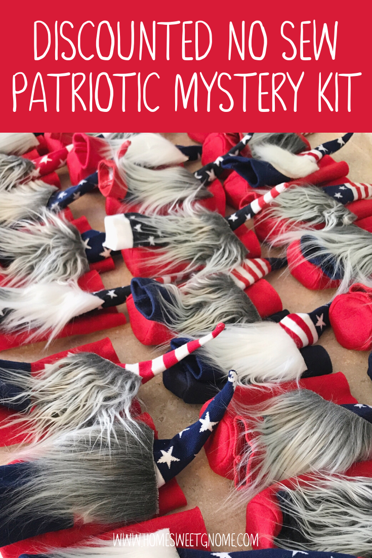 DISCOUNTED Patriotic MYSTERY Gnome Making Kit - NO SEW KIT