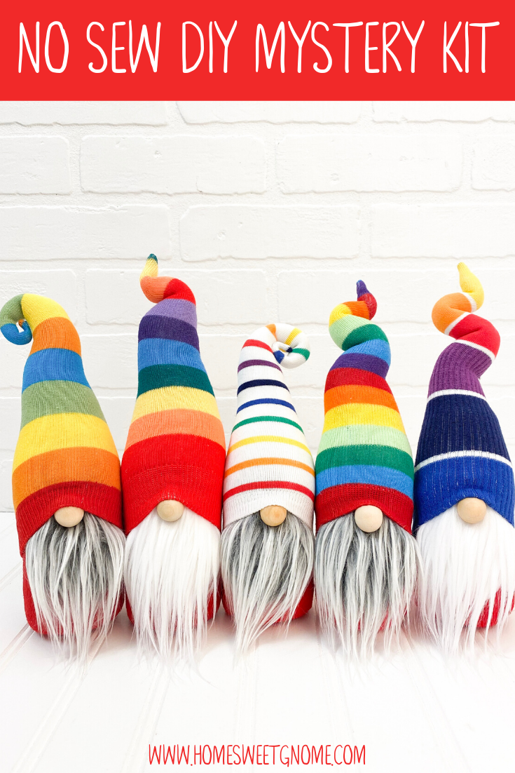 DIY Mystery Rainbow Gnome Making Kit - NO SEW KIT