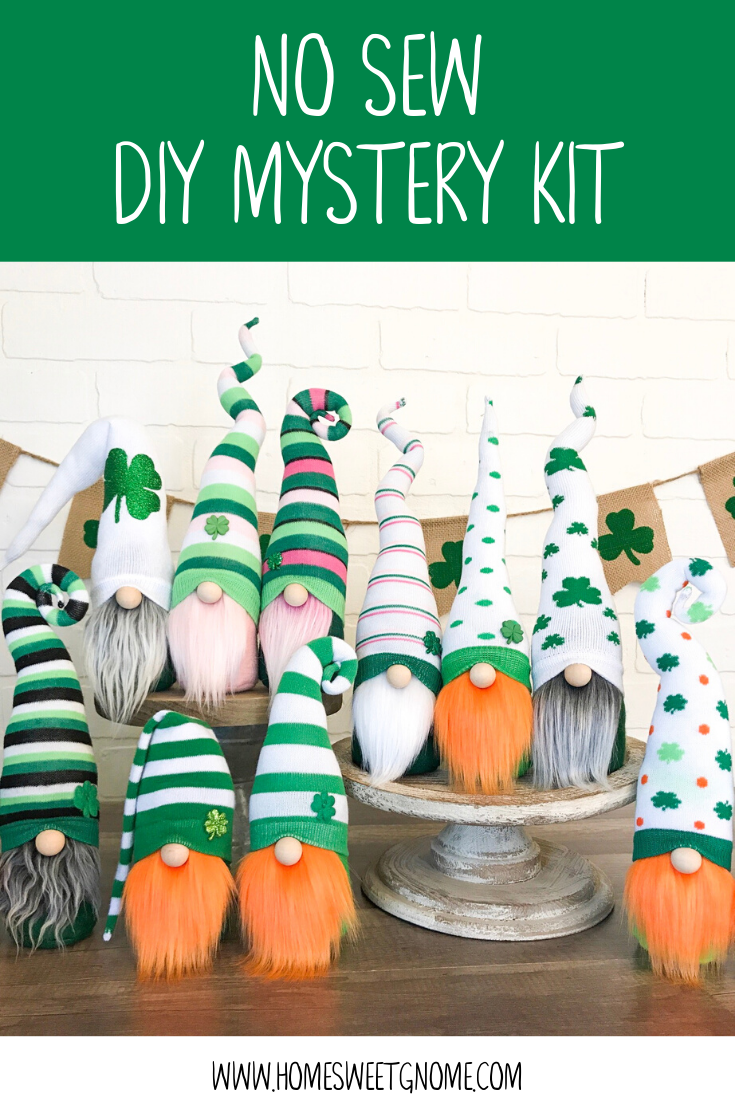 DIY Mystery St. Patrick's Day Gnome Making Kit - NO SEW KIT