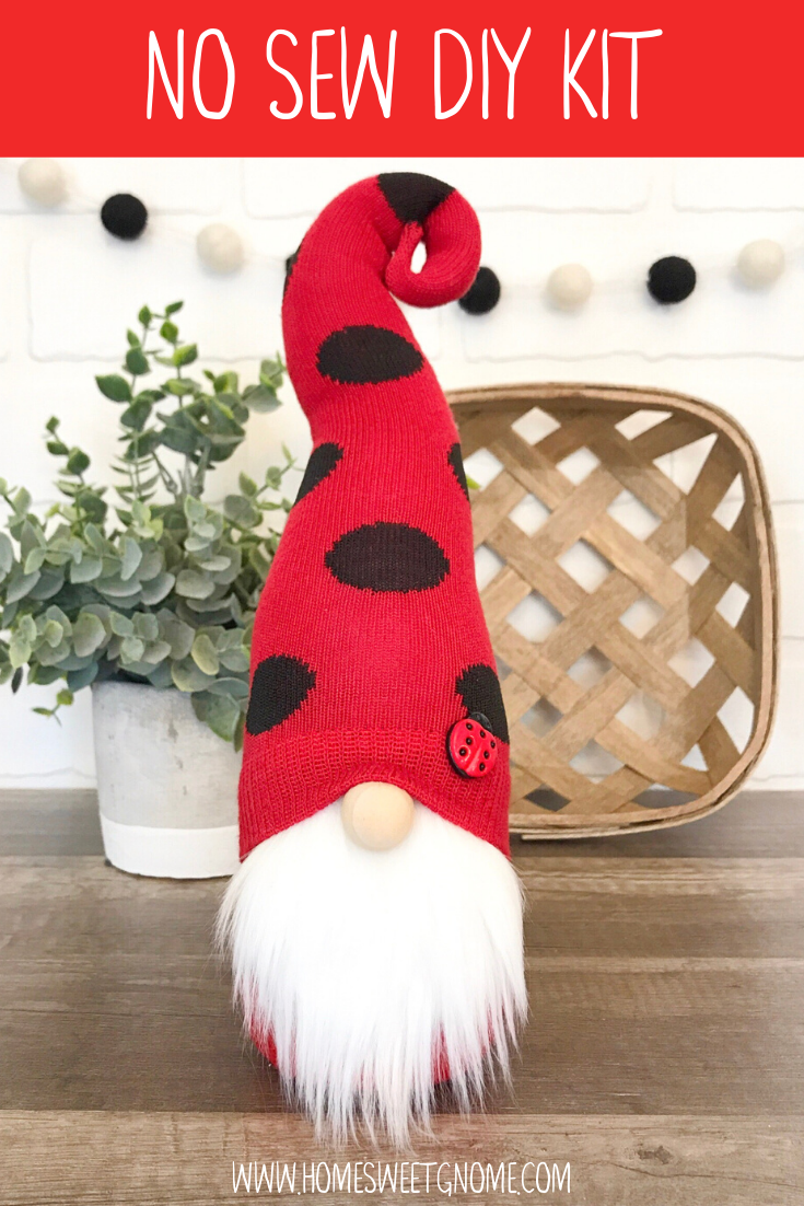 DIY Lady Bug Gnome - NO SEW KIT - NO RESTOCKS
