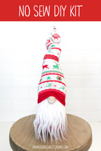 Load image into Gallery viewer, DIY Red & Green Reindeer Gnome Making Kit - NO SEW KIT