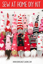 Load image into Gallery viewer, DIY Mystery Valentine's Gnome - SEW AT HOME KIT