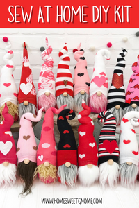 DIY Mystery Valentine's Gnome - SEW AT HOME KIT
