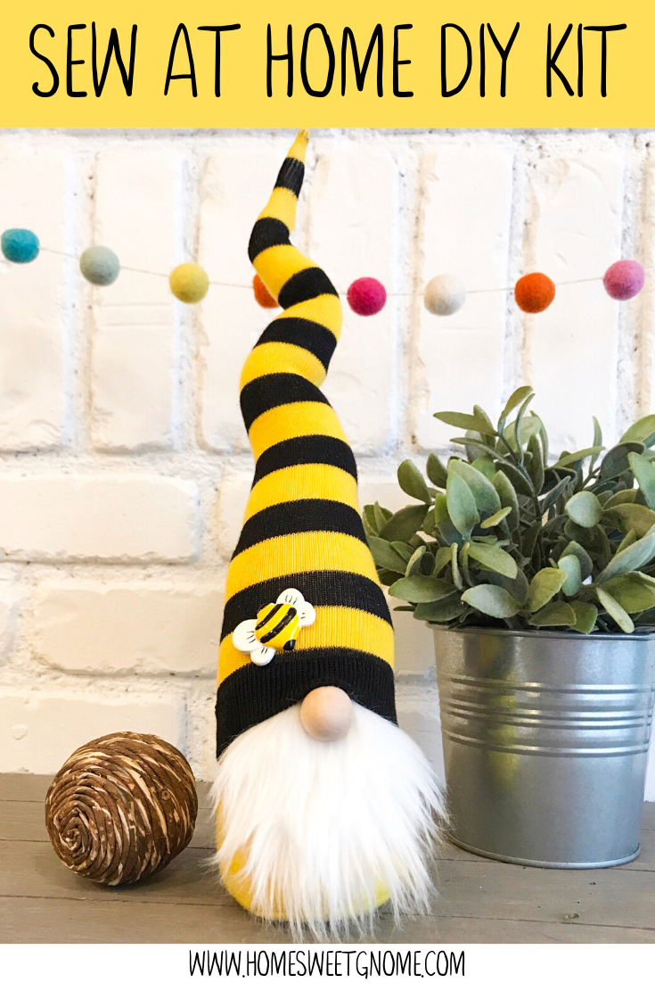 DIY Bumble Bee Gnome - SEW AT HOME