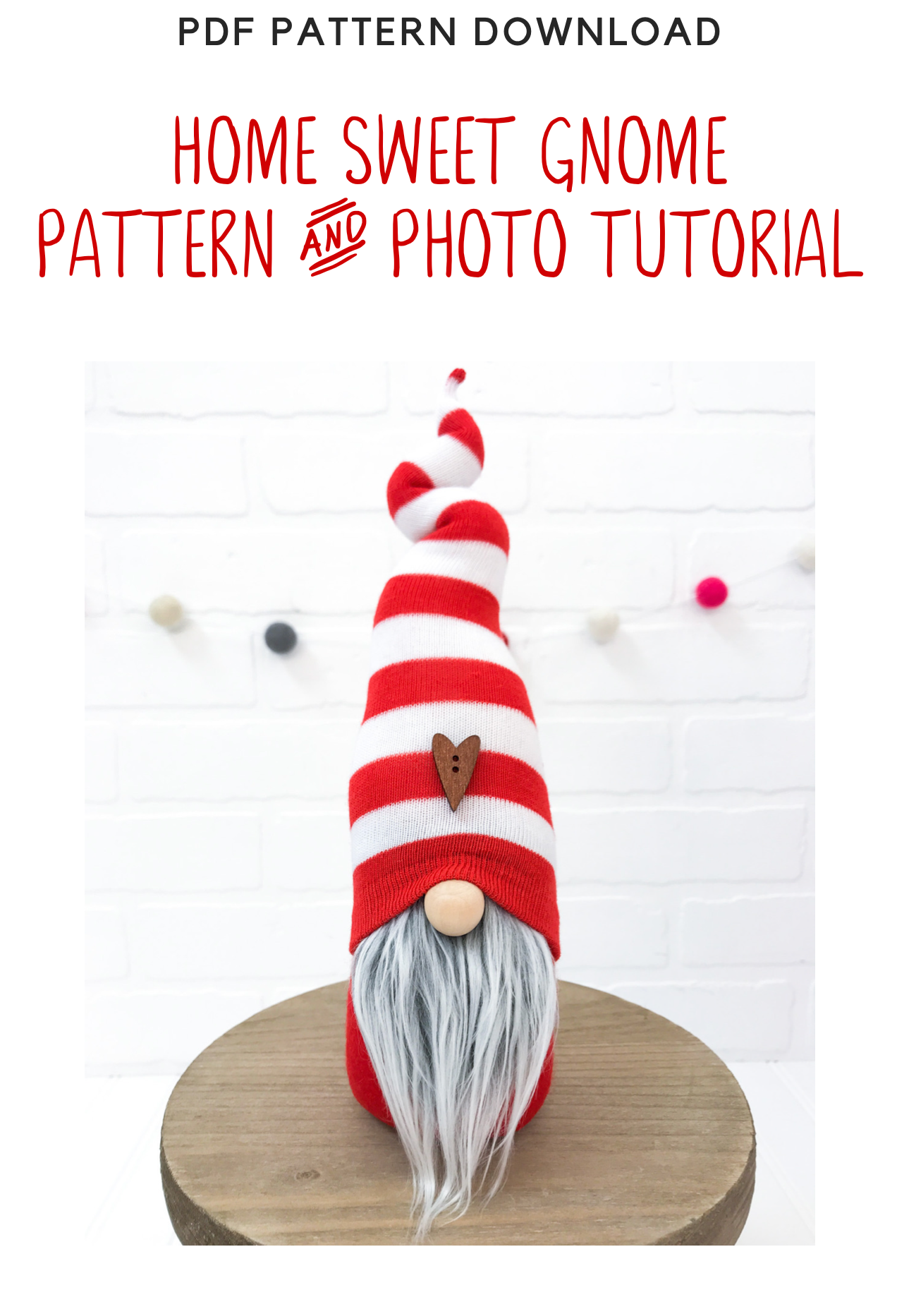 Diy Home Sweet Gnome Pattern Tutorial No Add Ons Included