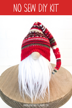 Load image into Gallery viewer, DIY Red Christmas Print Gnome Making Kit - NO SEW KIT
