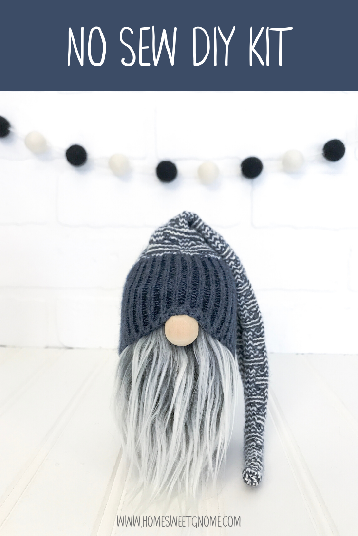 DIY Blue Sweater Gnome Making Kit - NO SEW KIT