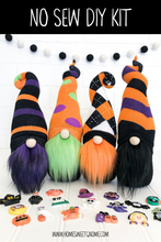 Load image into Gallery viewer, LAST CHANCE!! DIY Mystery Pattern Halloween Gnome Making Kit - NO SEW KIT