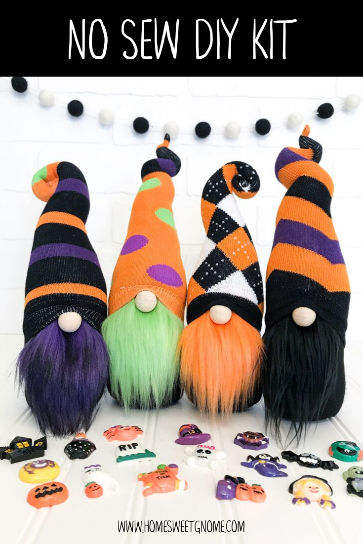 LAST CHANCE!! DIY Mystery Pattern Halloween Gnome Making Kit - NO SEW KIT